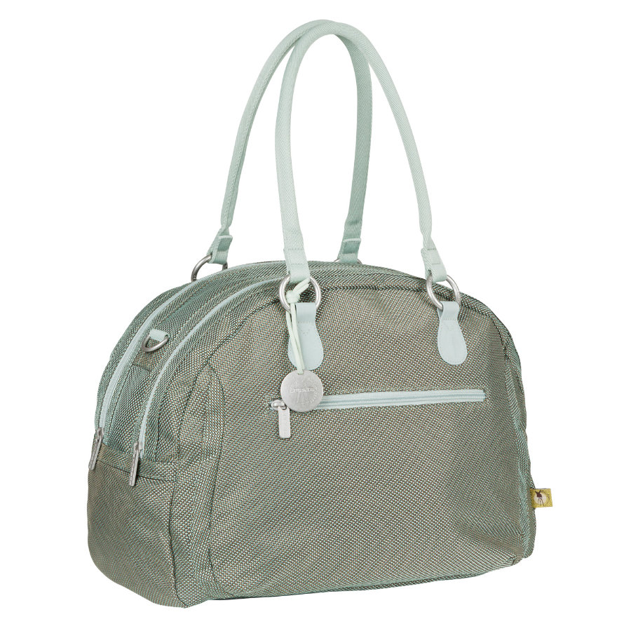 LÄSSIG Goldlabel Nappy Bag Bowler Bag Design Metallic Frosty