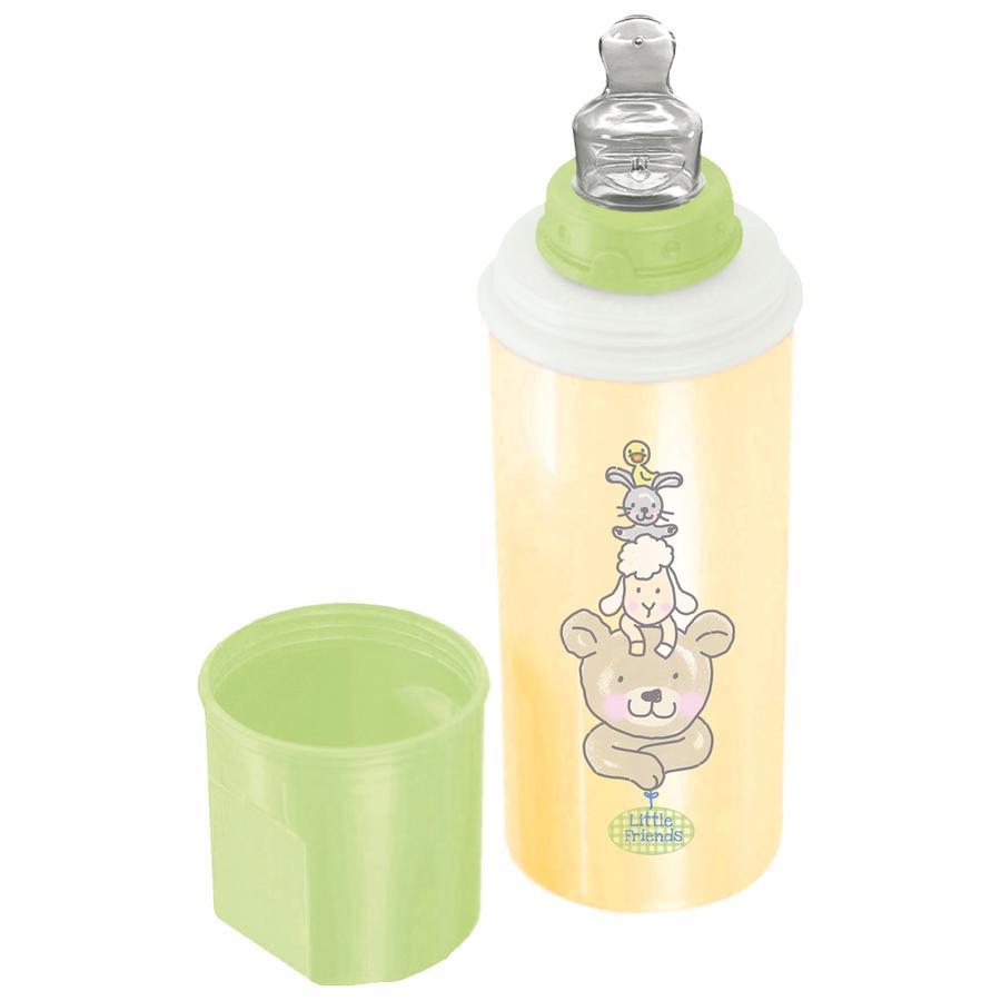Rotho Babydesign Warmhalte-Flasche Beste Freunde vanille lindgrün/weiß