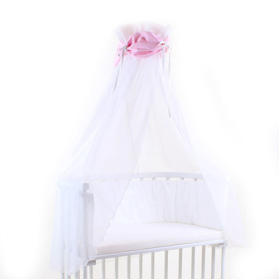 babybay Himmelstoff rose/weiß 200 x 135 cm