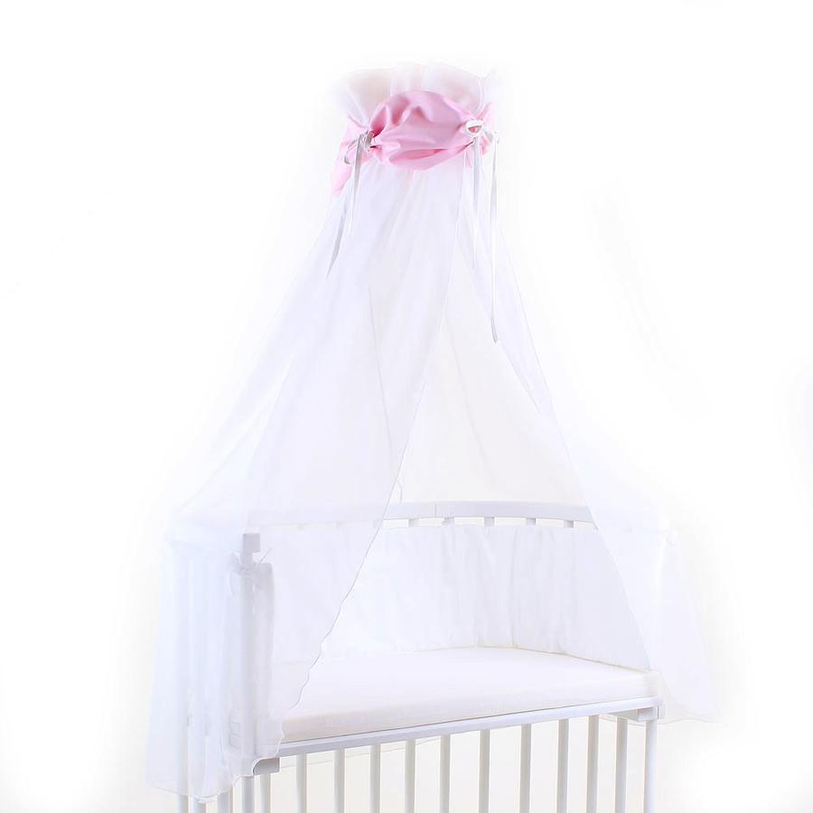 babybay Sänghimmel rosa/vit