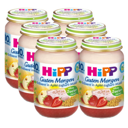 HiPP Bio Good Morning Strawberry in Apple-Yoghurt Muesli 6 x 160g