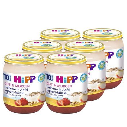 HiPP Bio Guten Morgen Erdbeere in Apfel-Joghurt-Müesli 6 x 160 g