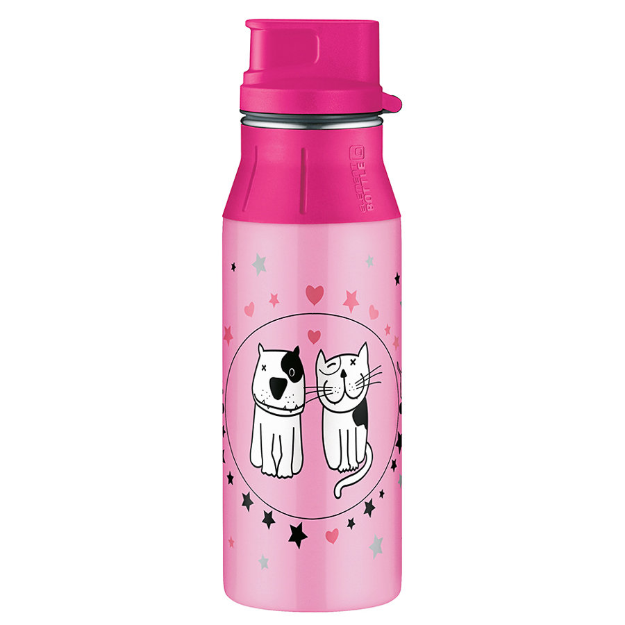 ALFI elementBottle mit Trinkverschluß CATS AND DOGS 0,6 l