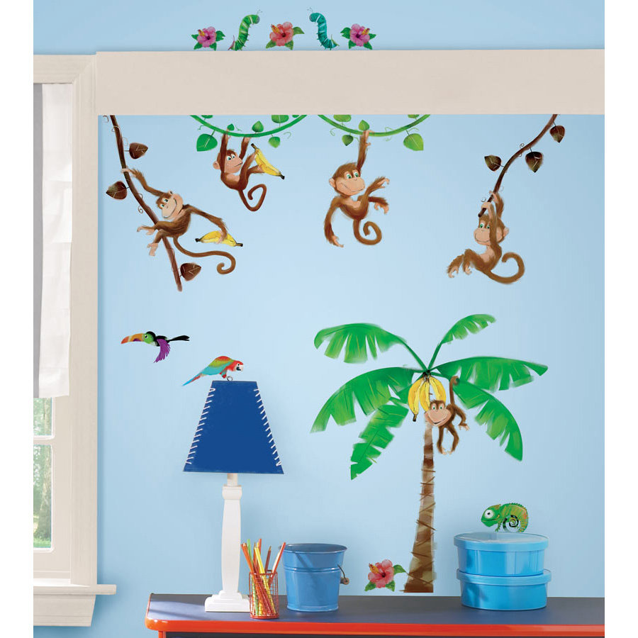 Nalepky na zeď ROOMMATES Monkeys