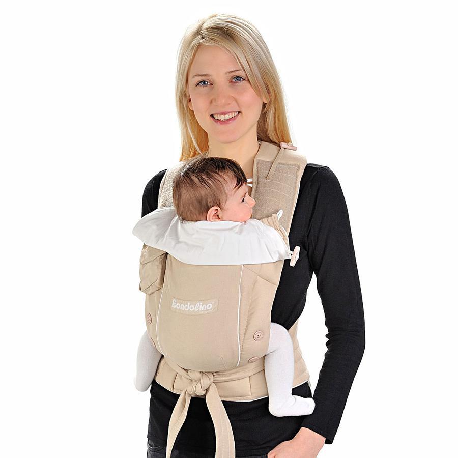 HOPPEDIZ Dětské nosítko Bondolino  Slim fit, lehká kvalita, písek-krém