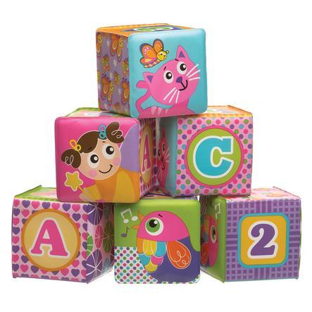 playgro Badespielwürfel 6 Stück für Mädchen