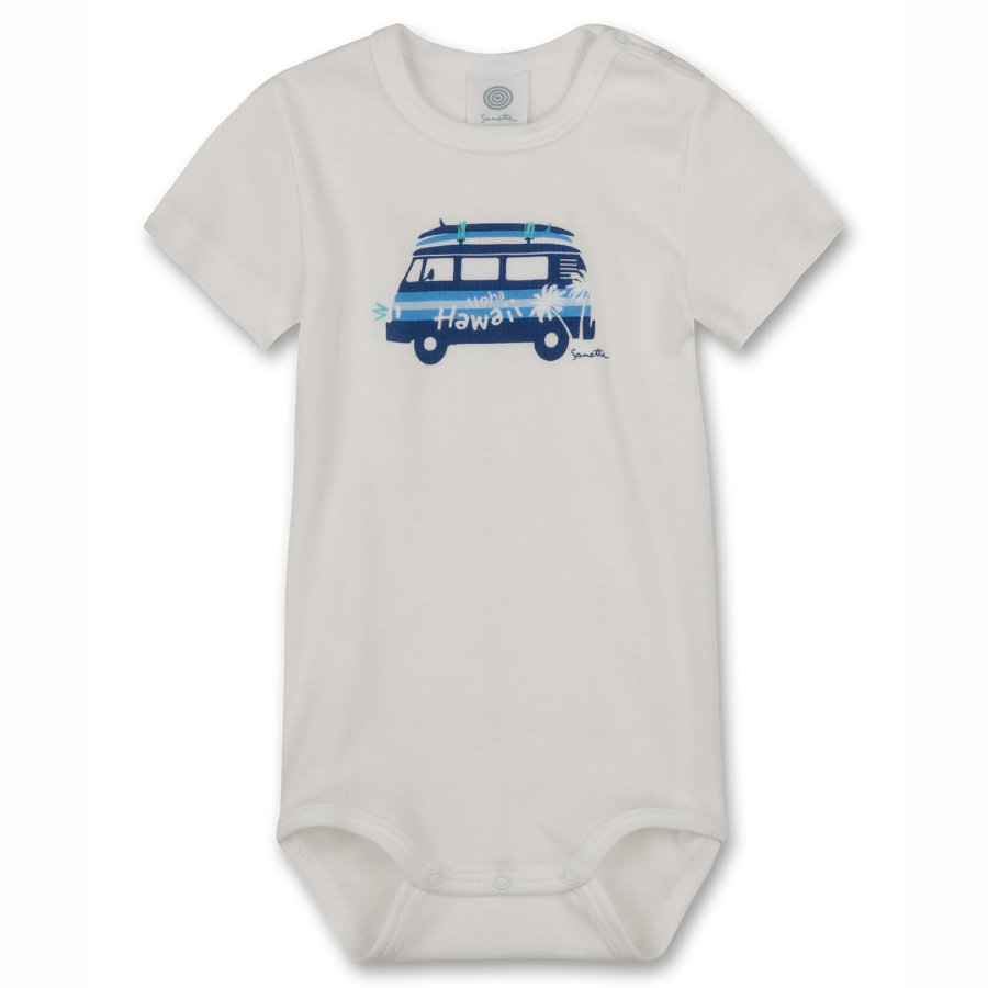 SANETTA Boys Baby Body 1/4 Arm white