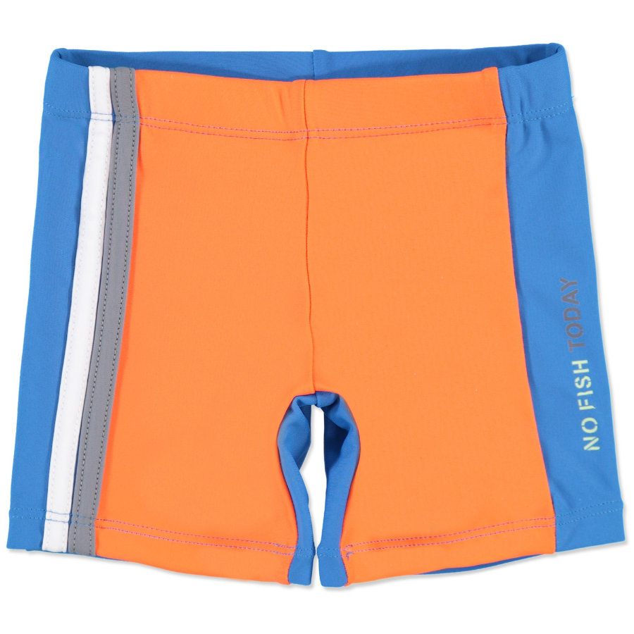 anna & tom Boys Shorts de bain à protection UV, bleu/orange