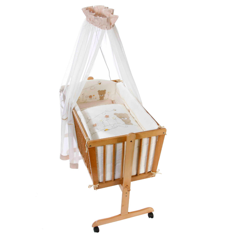 Easy Baby Cradle Linens Set - Honey bear