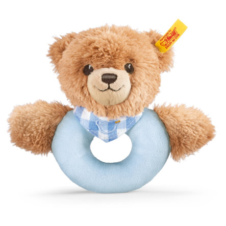 STEIFF Sleep Well Bear Grip Toy, blue