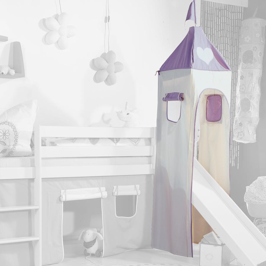 Relita Turm Set groß purple / weiß Herz