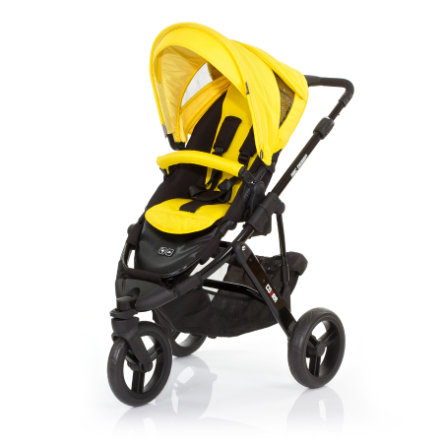 ABC DESIGN Kinderwagen Cobra citro Gestell black / black