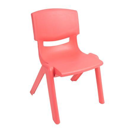BIECO Chaise enfant rouge en plastique