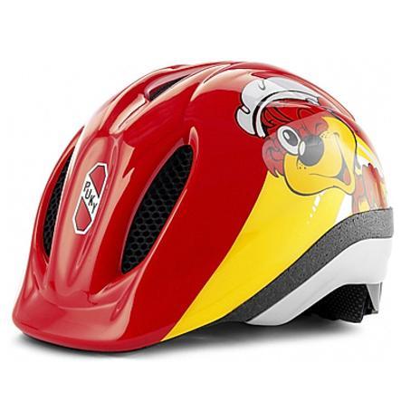 PUKY Casco PH1 per bicicletta, rosso/giallo Taglia: M/L