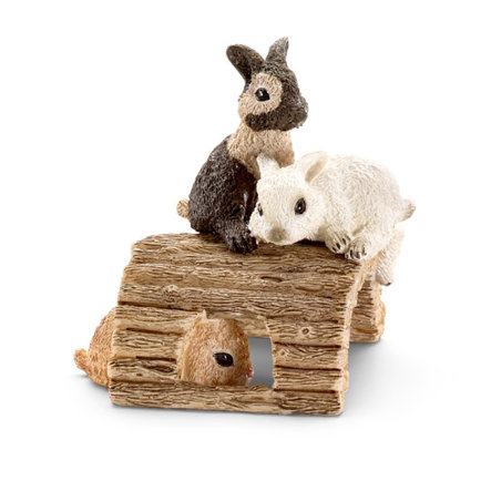 SCHLEICH Baby Rabbits, playing 13748