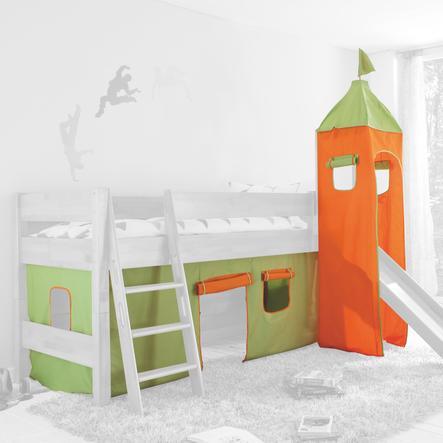 Relita Stoffset für Hochbetten mit Turm grün / orange