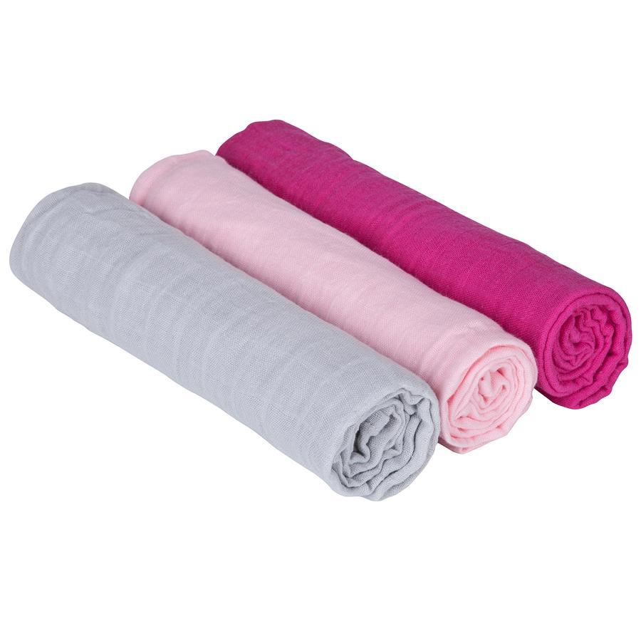 LÄSSIG Swaddle & Burp Blanket L Bedtime Candy girls 85 x 85 cm