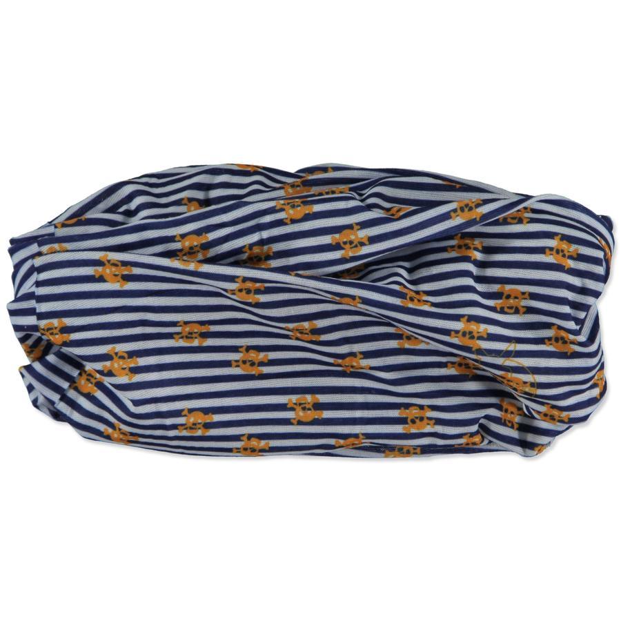 LÄSSIG Twister multifunktionel tørklæde, Skull orange