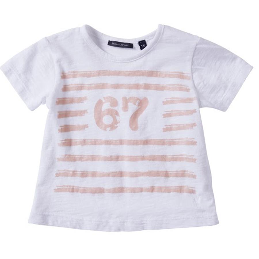 MARC O`POLO Girls Mini T-shirt, blanc vif