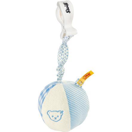 STEIFF Chrastítko míček, 9 cm, modrý