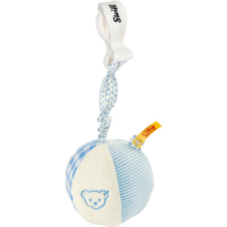 STEIFF Rattle Ball with Rustling Foil 9 cm, blue