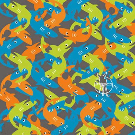 LÄSSIG Foulard multiusage Enfants Twister Shark blue