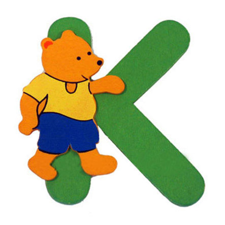 BIECO BEAR LETTER K