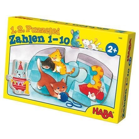 HABA 1, 2, puzzle-moi - Les chiffres de 1 à 10 7468