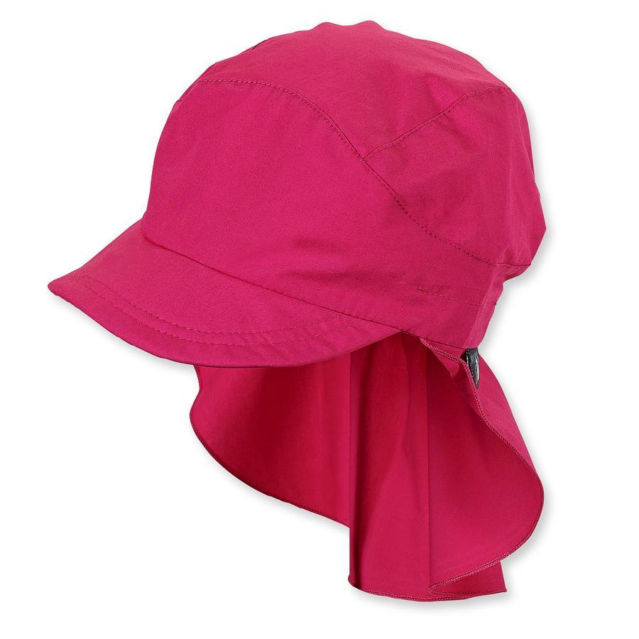 Sterntaler gorra con protección de cuello magenta