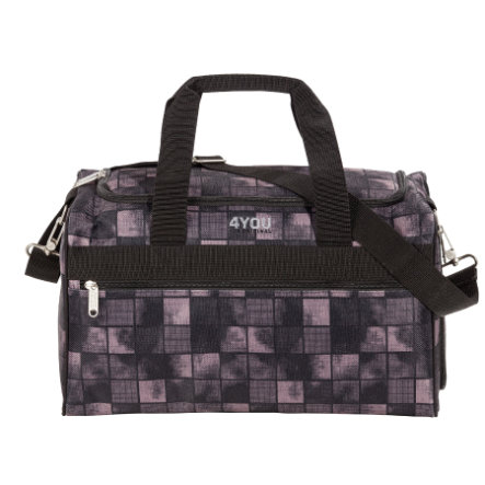 4YOU Basic Sports Bag M - Black Squares