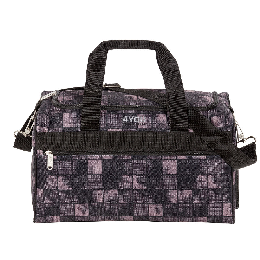 4YOU Basic Sportbag M - Black Squares