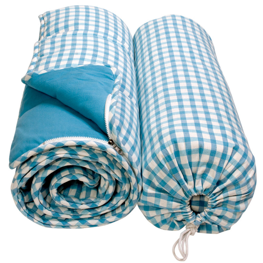WIN GREEN Schlafsack - Blau Gingham