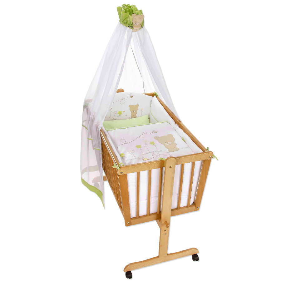 Easy Baby Cradle Linens Set - Honey bear grün (480-39)