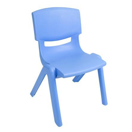 BIECO Blå barnstol av plast