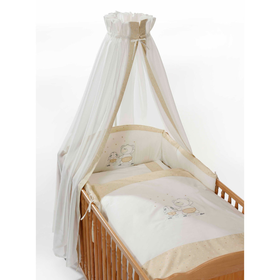 Easy Baby Set biancheria da lettino Stars & Friends - ecru