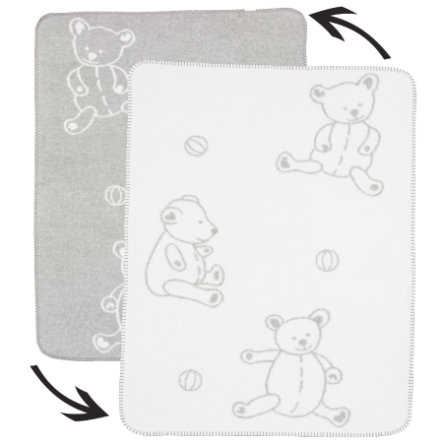 ALVI Babyfilt Bomull Teddy grå