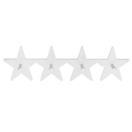 KIDS CONCEPT Portemanteaux, Étoile, blanc, 50 cm