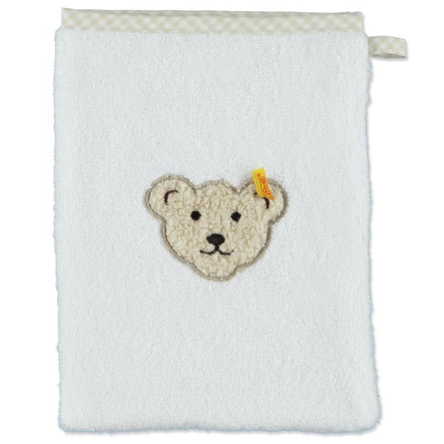 Steiff Baby Frottee Waschhandschuh bright white