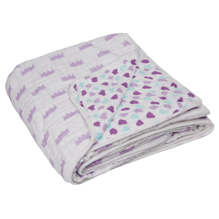 LÄSSIG Cozy Blanket XL Little King & Queen girls 120 x 120 cm