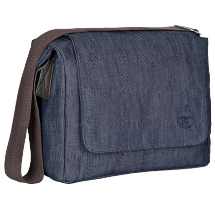 "LÄSSIG Bolso cambiador Small Messenger Update Bag ""Green Label"", denim blue"