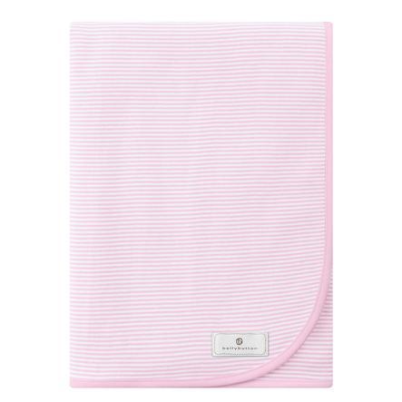 BELLYBUTTON Jersey deka,bílo-růžová s proužky