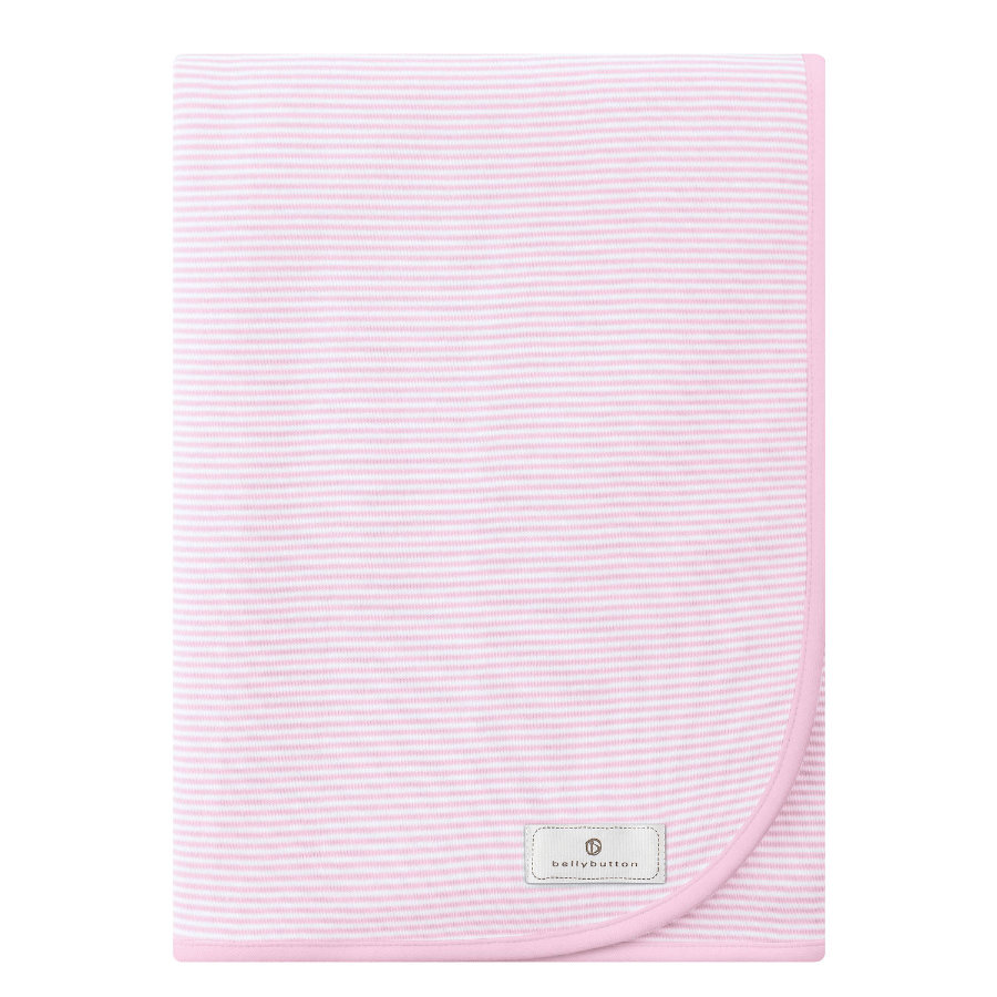 BELLYBUTTON Jerseydecke white rose striped