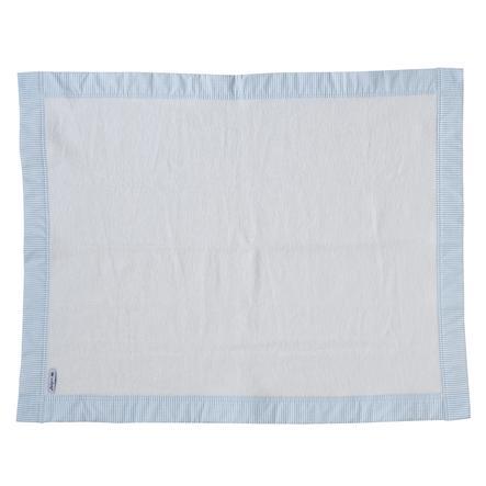 TiCAA Tagesdecke Schmusedecke aus Baumwolle Blau