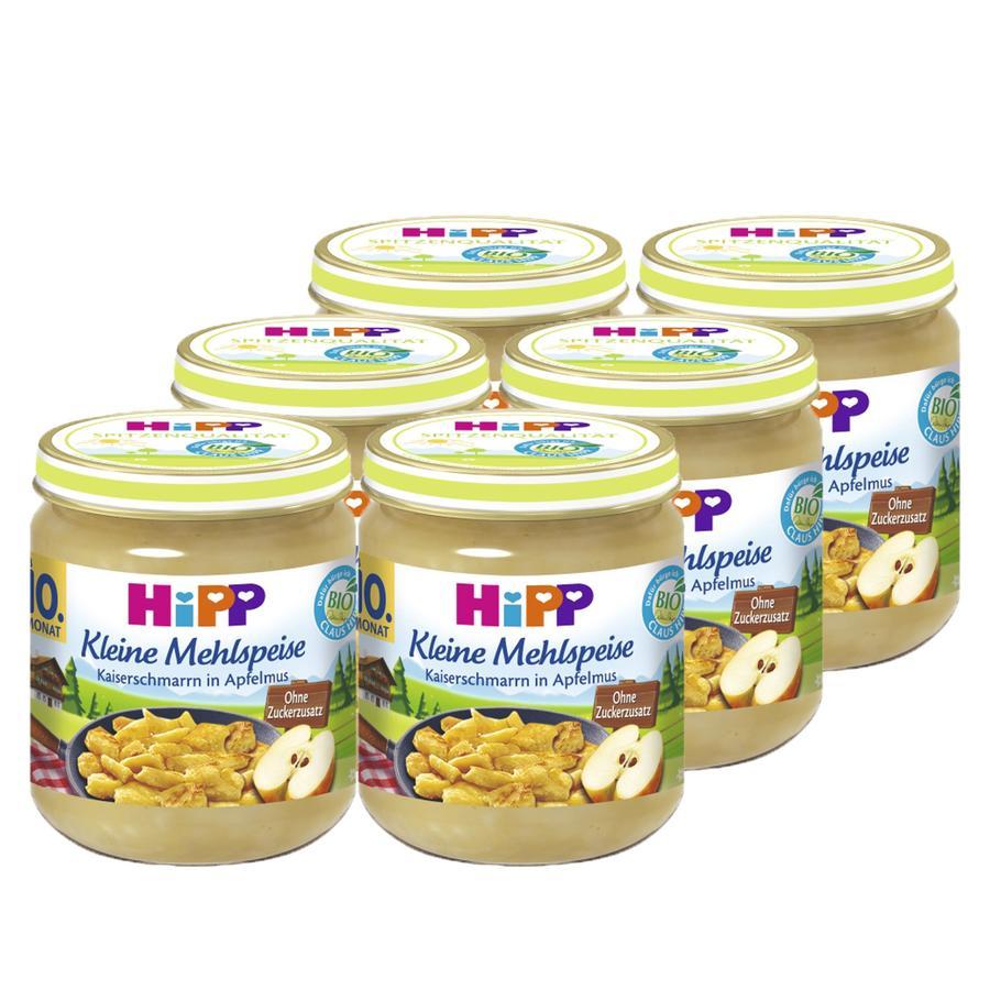 HiPP Bio kleine Mehlspeise Kaiserschmarrn in Apfelmus 6 x 200 g