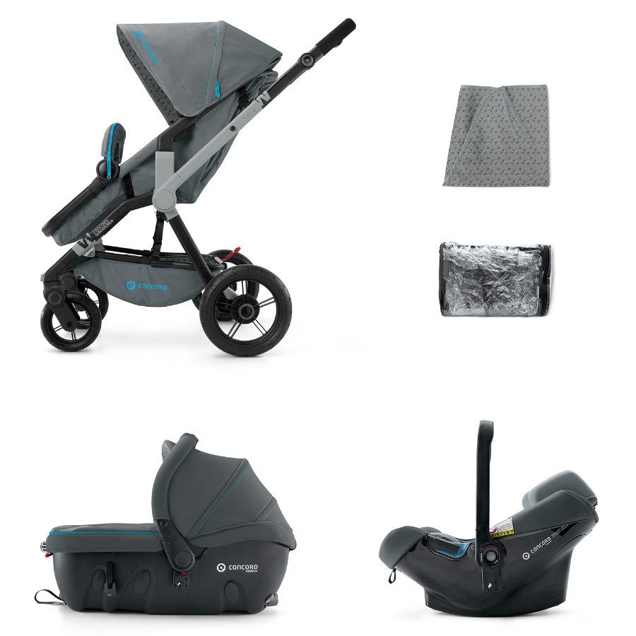 CONCORD Barnvagn Wanderer Travel-Set Stone Grey