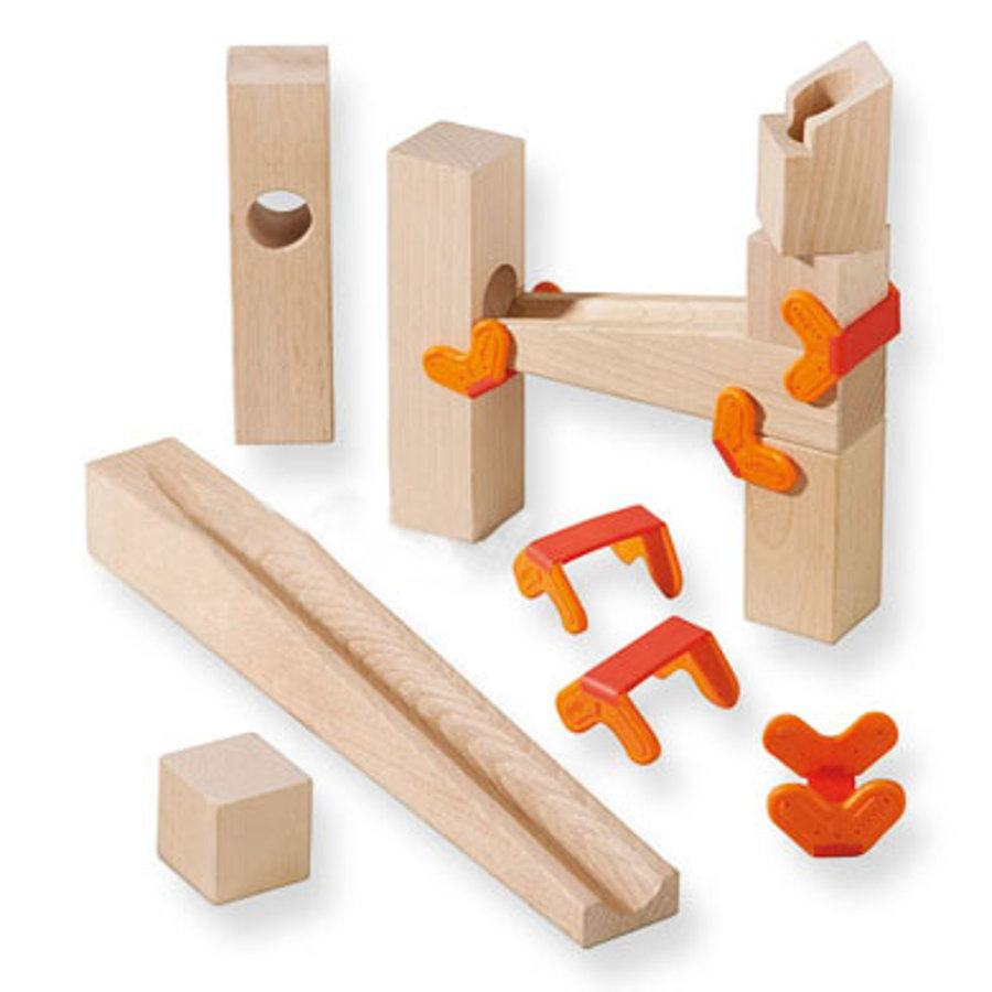 HABA Marble-track parts - Clamps and Ramps