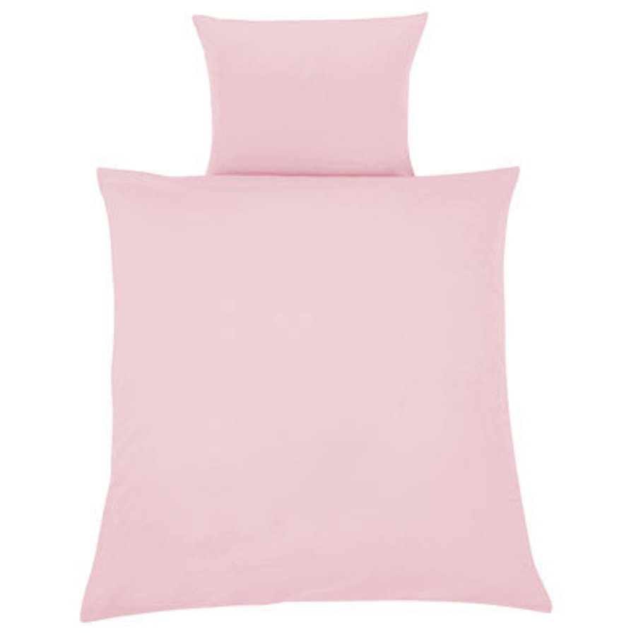 ZÖLLNER Bed Linens 80 x 80 cm - Solid Light Pink (4076-1)