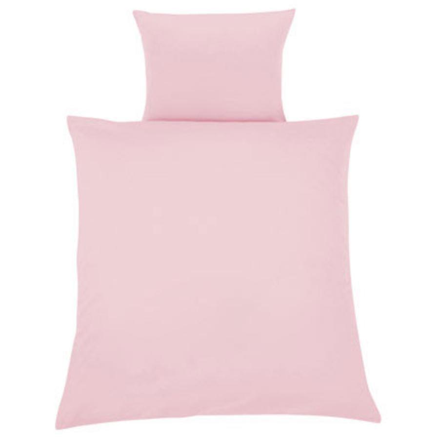 ZÖLLNER Lenzuola a tinta unita rosa 80 x 80 cm (4076-1)