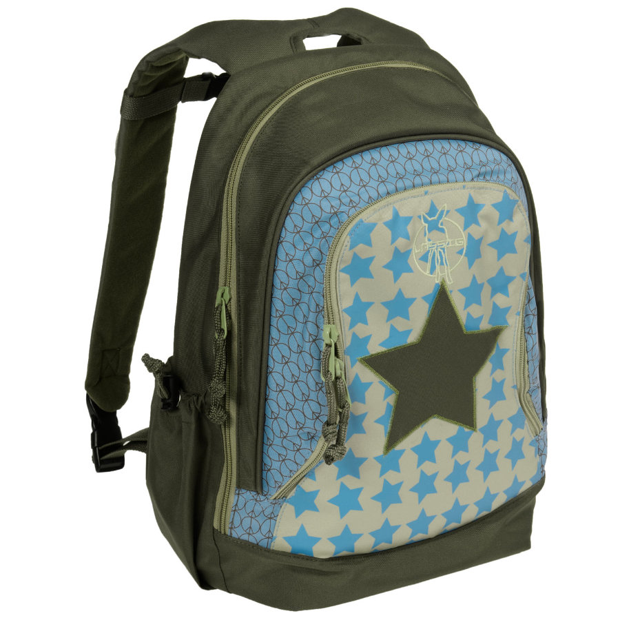 LÄSSIG mini batoh Backpack Big Starlight Oliv