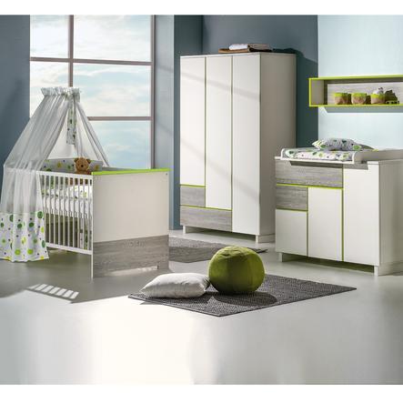 Schardt Pokój dziecięcy - komplet Pepp biały/ zielony/ szary